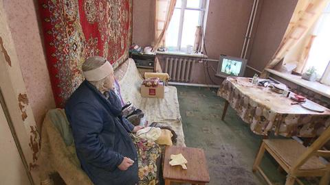 Вести в 20:00. Рухнул потолок: 96-летняя жительница Балашихи осталась без жилья