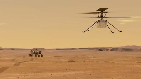 Марсианский вертолет взлетел в четвертый раз со второй попытки