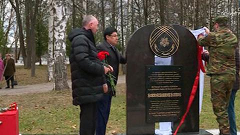 На берегу реки Свирь открыли памятник воинам-героям из Казахстана