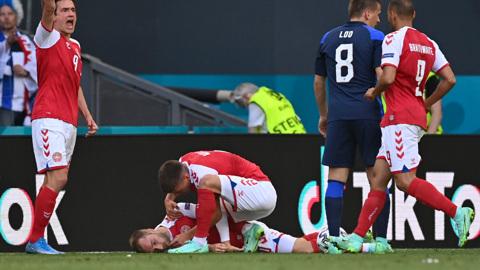 Тренер сборной Дании: Эриксен перенес остановку сердца