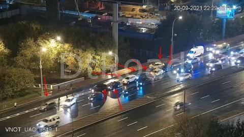 На столичном шоссе столкнулись 8 автомобилей