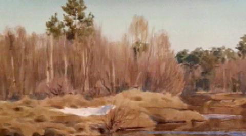 """Уроки рисования с Сергеем Андриякой. """"Весенний пейзаж"""""""