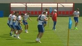 Тренировка сборной России: мощные удары и точные передачи