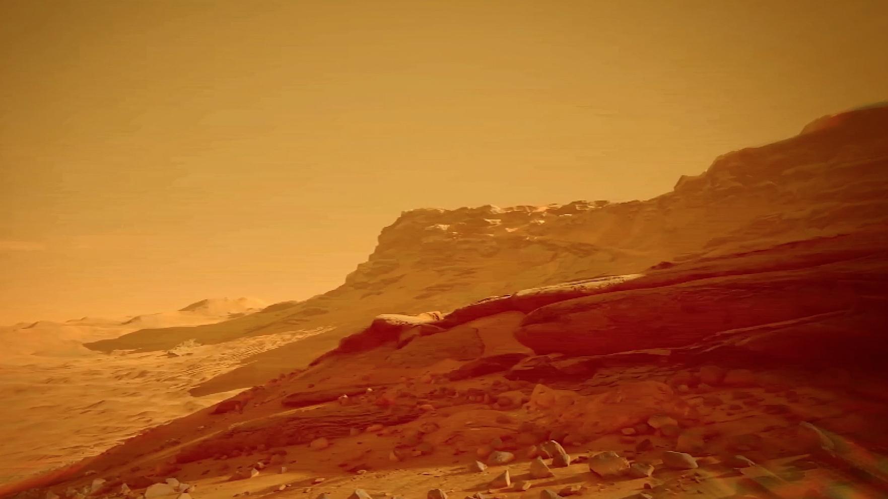 """Поверхность Марса не изобилует водой. Но даже небольшое количество влаги создаст """"паровую подушку"""", и грунт придёт в движение."""