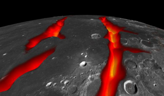 Трещины на западной границе Океана Бурь, скорее всего, образовались 3,5 миллиардов лет тому назад
