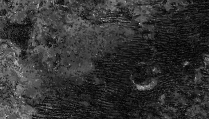 """Радиолокационное изображение дюн, сделанное аппаратом """"Кассини"""""""