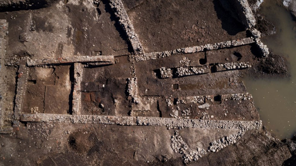 Структура святилища Митры в Мариане. Фото: Denis Gliksman / Inrap