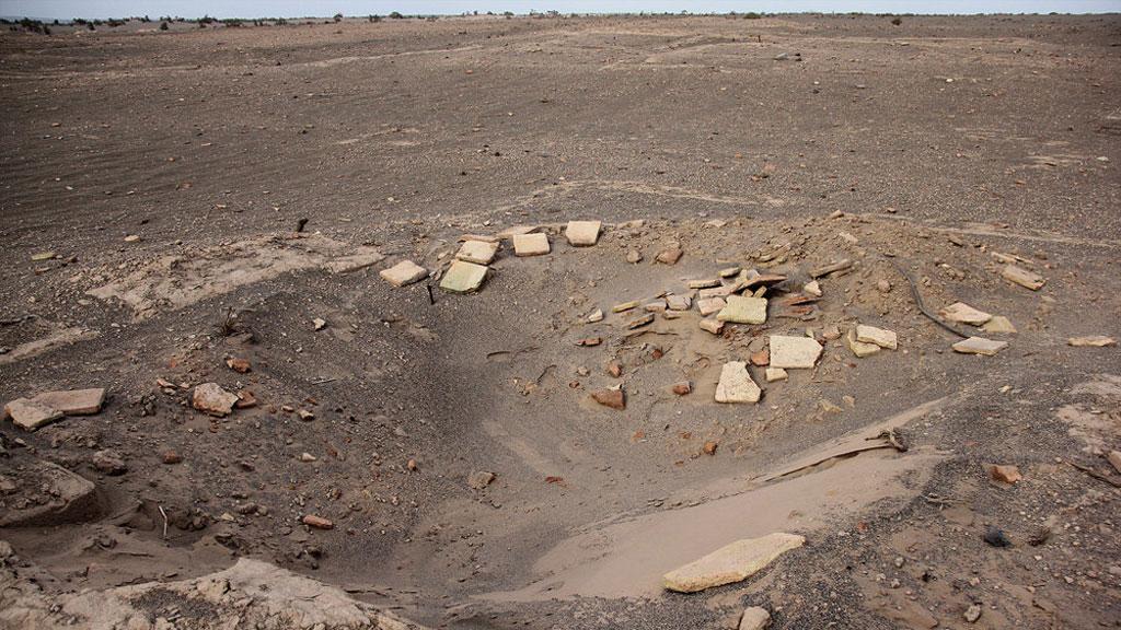 Неизвестный древний город, обнаруженный благодаря песчаной буре. Руины строения. Фото: Mehr