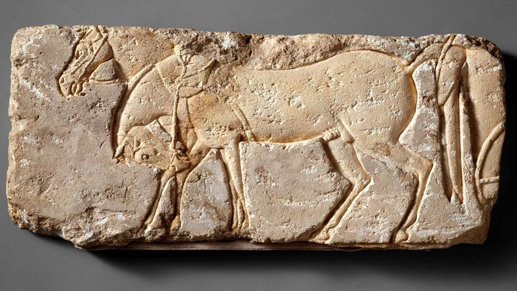 Рельеф из Амарны с изображением запряженных лошадей. Фото: The Metropolitan Museum of Art