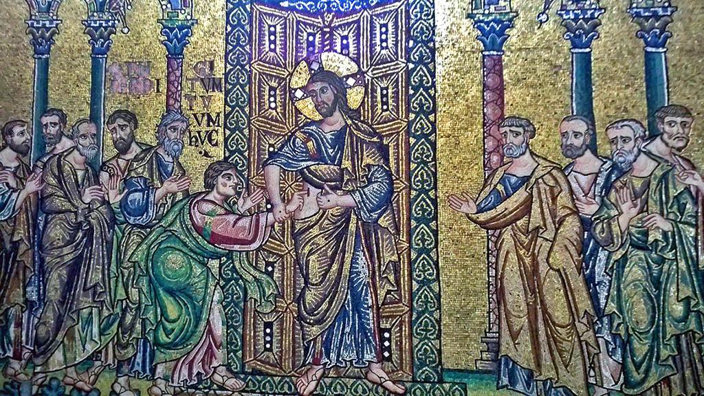 Евангельская сцена «Уверение апостола Фомы» в базилике Рождества. Фото: piacenti.org