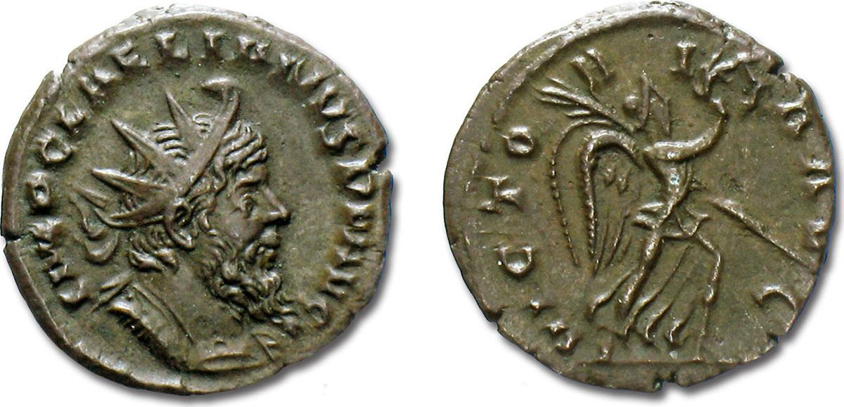 Бронзовый антониниан Ульпия Корнелия Лелиана, 269 год. Фото: Moruzzi Numismatica
