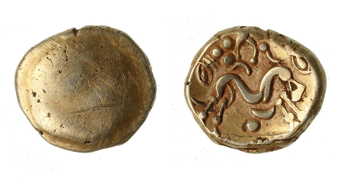 Односторонний галльский военный статер. Фото: Portable Antiquities Scheme