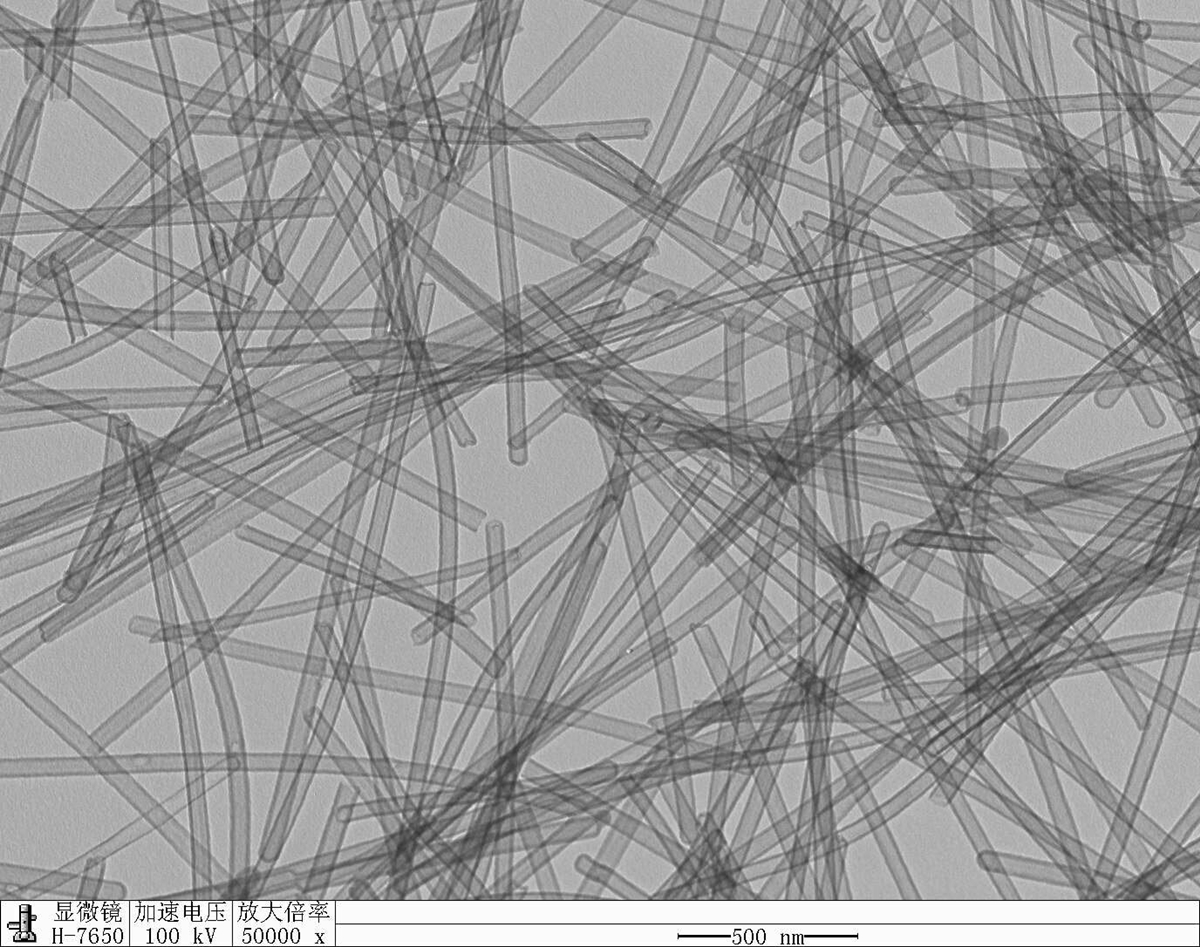 Аэрогель из углеродных нанотрубок под электронным микроскопом.