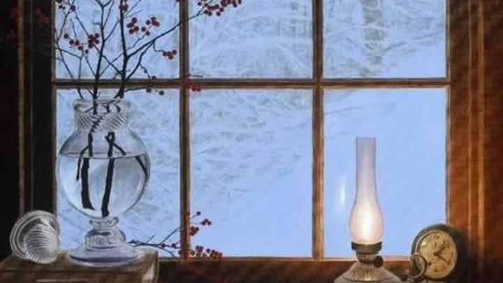 Зима.Окно