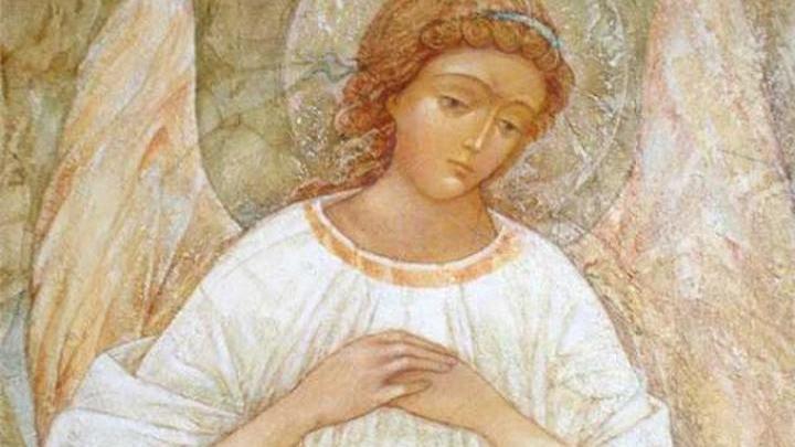 Ангел - хранитель. Фреска