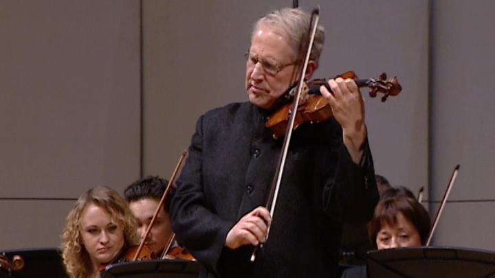 Скрипач и дирижёр Шломо Минц дал концерт в Москве