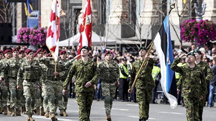 Шествие военных стран НАТО на параде в Киеве в День независимости Украины (источник: cdn5.img.ria.ru).