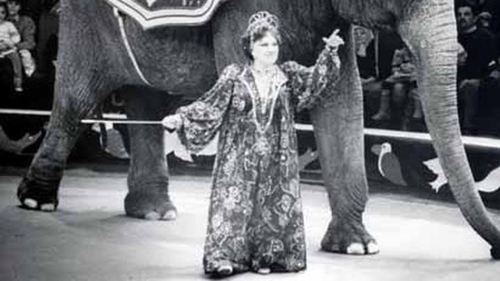 На арене всемирно известная дрессировщица Тереза Дурова.