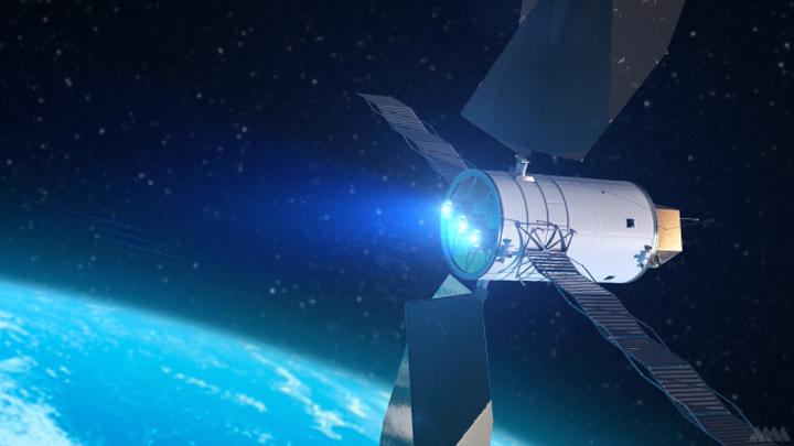 Художественный концепт аппарата для доставки астероидов к Земле