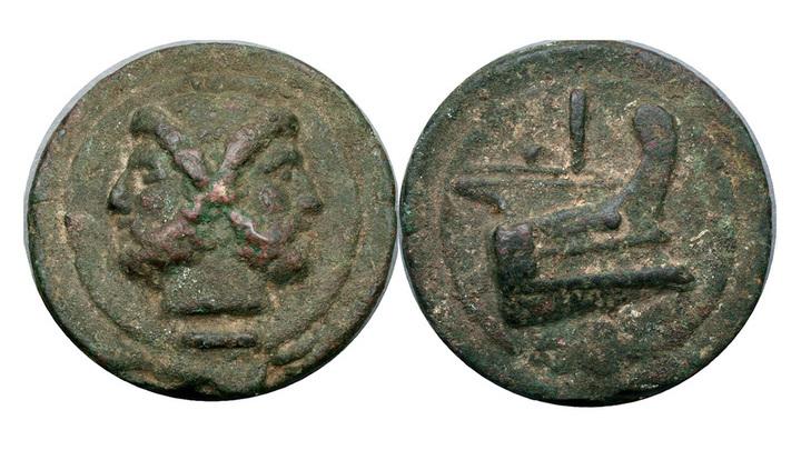 Бронзовая монета Aes Grave (не из Вульчи). Фото: Andrew McCabe / flickr.com