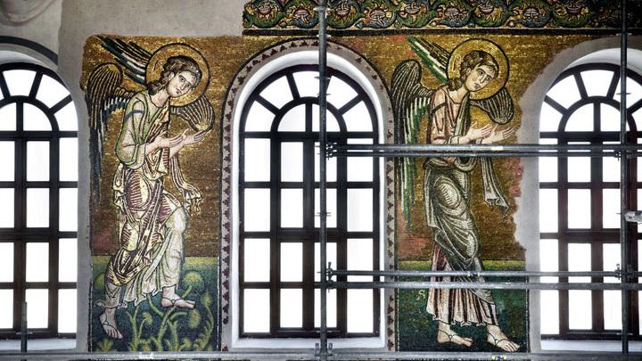 Фрагмент мозаики в храме Рождества Христова, Вифлеем