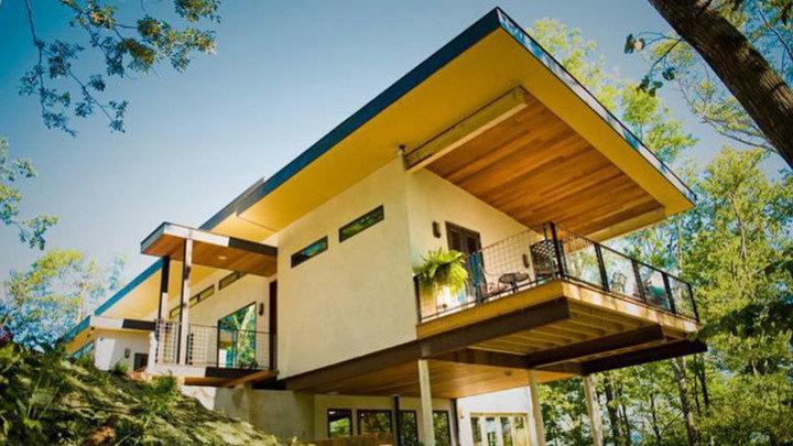 Дом в Северной Каролине (США), полностью построенный из хемпкрита. Фото с сайта pointer.ru