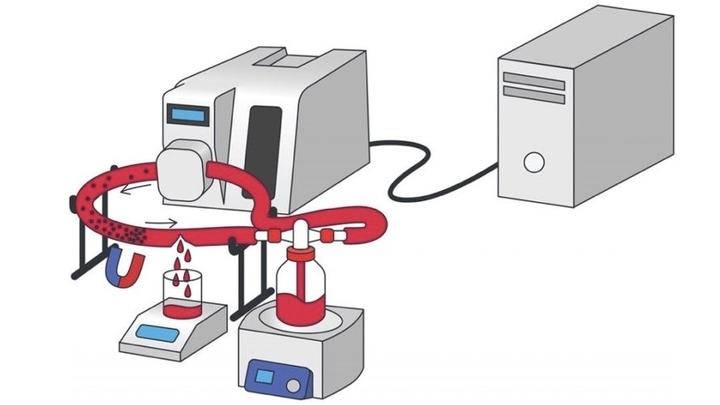 Cистема, моделирующая повреждённый сосуд.