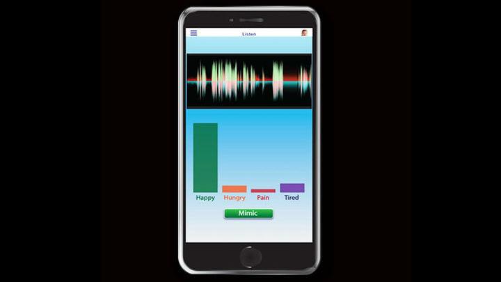 Приложение использует машинное обучение для анализа частот и закономерностей в криках малышей.
