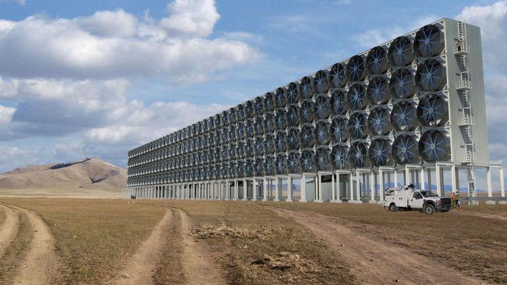 Мощные вентиляторы нагнетают воздух в зону реакции.