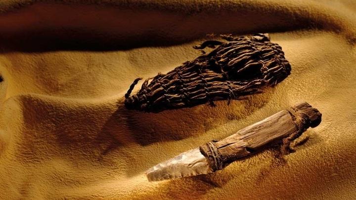 Орудия, найденные рядом с мумией Ледяного человека.