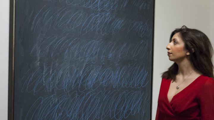 """Картина Сая Твомбли """"Без названия"""" √ яркий образец современного искусства (contemporary art). На аукционе """"Сотбис"""" стартовая цена этого лота составила 40 миллионов долларов."""