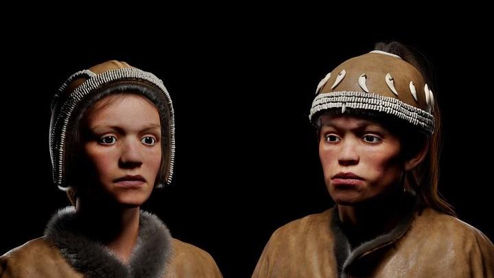 3D-реконструкция внешности жителей Сунгири: дети 10 и 13 лет