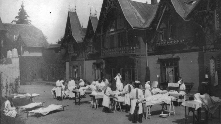 Фронтовой госпиталь, 1915 год. Архив И.Левиной