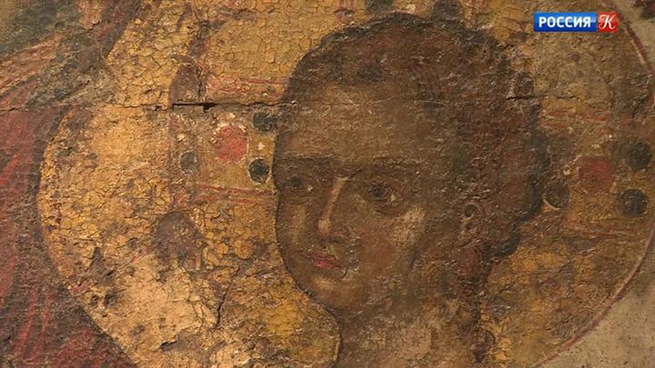 В Центре Грабаря завершается реставрация иконы Божией Матери Одигитрии