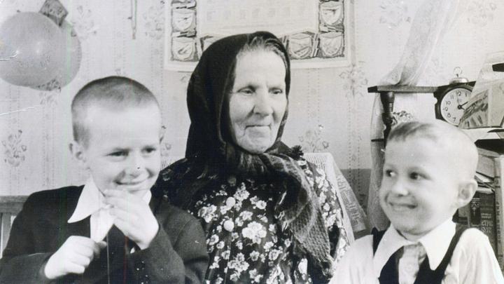 С бабушкой встречаем 1962 год. Из семейного архива К.Завольского