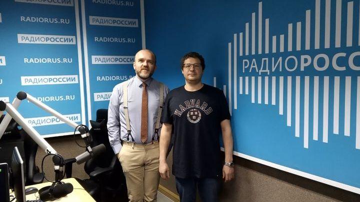 Дмитрий Конаныхин и Юрий Ковалёв в студии