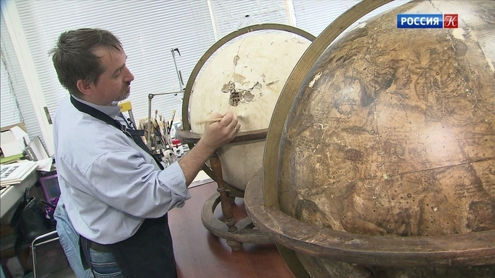 В Центре имени Грабаря отреставрируют земной и небесный глобусы Блау