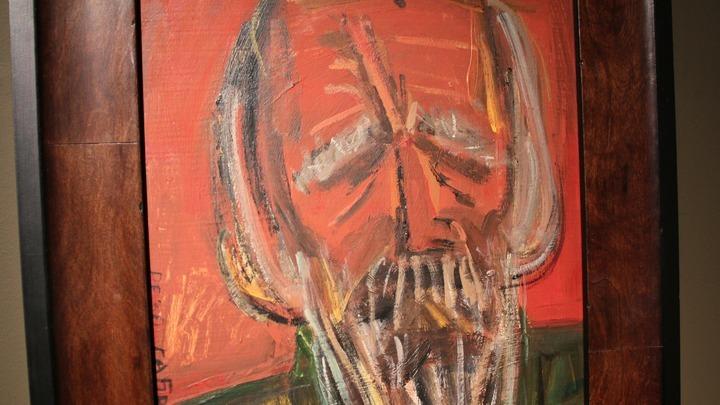 Портрет Александра Солженицына художника Резо Габриадзе, 2011 год. Фото Леонида Варебруса