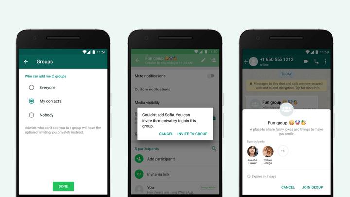 WhatsApp добавляет новые ограничения, касающиеся групп