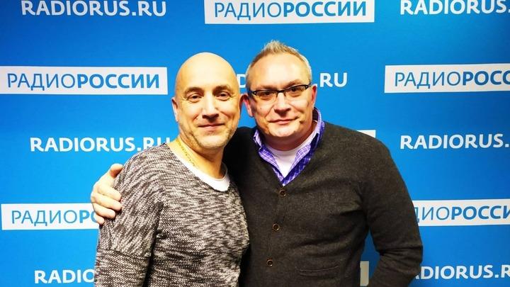 Захар Прилепин и Вячеслав Коновалов в студии