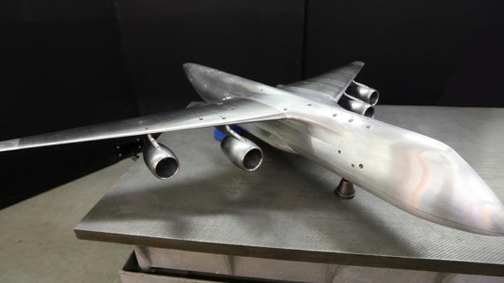 """Аэродинамическая модель самолета """"Слон"""" в конфигурации без оперения"""