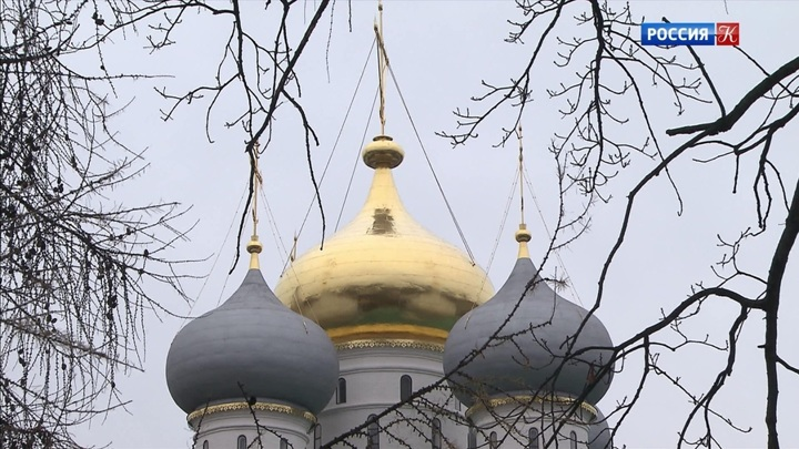 В Новодевичьем монастыре нашли две фрески времен Бориса Годунова