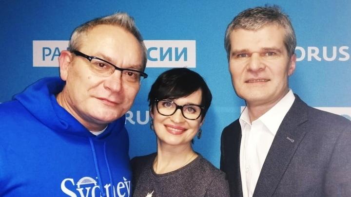 """Валерий Бабич в студии """"Радио России"""""""