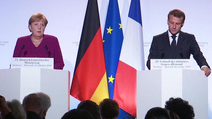 Отношения с Россией: заявления Меркель и Макрона