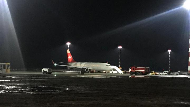 Boeing 767 выкатился за пределы взлётно-посадочной полосы в аэропорту Симферополя