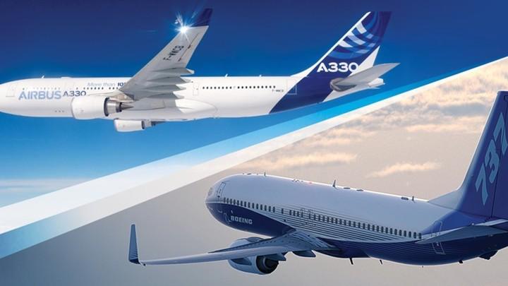 США и ЕСдоговорились о прекращении торгового спора относительно Boeing и Airbus