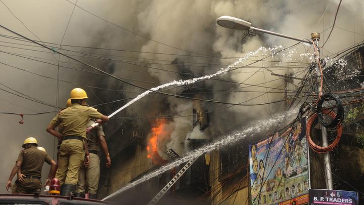 Пожар в Индии унес жизни 13 пациентов больницы