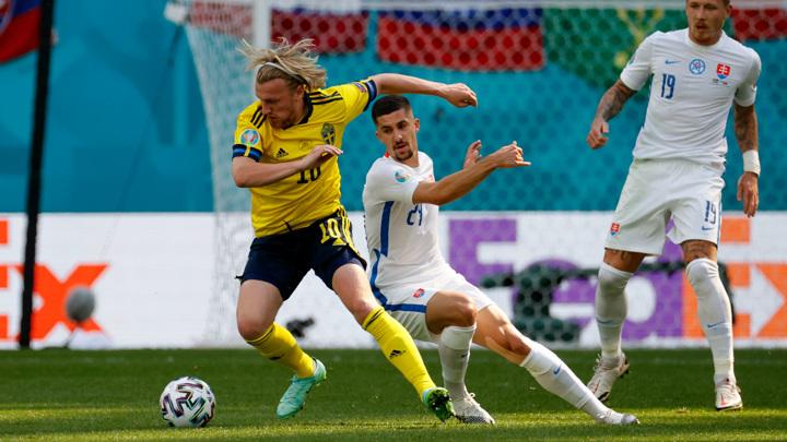 """Евро-2020. Швеция – Словакия – 1:0. Матч группы """"Е"""""""