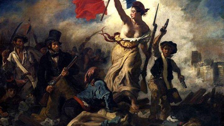 """Эжен Делакруа """"Свобода, ведущая народ"""", 1830"""