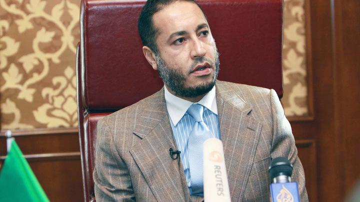 Сын Каддафи освободился из тюрьмы и улетел в Турцию